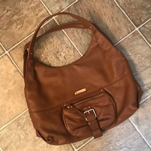 Michael Kors brown pebble leather shoulder bag